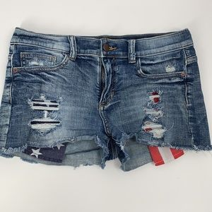 SP Black Label Americana Destroyed Shorts